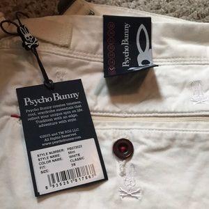 Men's Psycho Bunny Shorts white size 36.